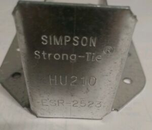 13 Simpson Strong Tie Hu210 14 Gauge Steel 2x10 Face Mount Joist Hangers Esr2523
