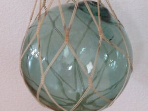 Japanese Vintage Glass Fish Ball Stamped Is A Large 11 Inch Dia