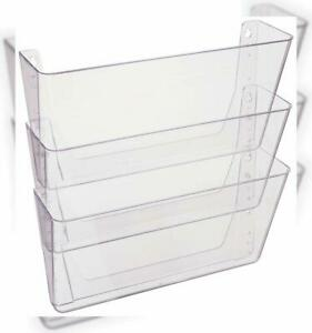 Deflecto Docupocket Wall File Organizer Stackable Letter Size Clear Set