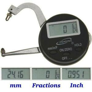 Igaging Digital Electronic Thickness Gage 0 1 25mm Micrometer Caliper
