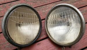 1935 37 Ford Pickup Two Lite Headlamps Rat Hot Rod Vintage Headlights