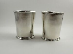 Kirk 277 Sterling Silver Mint Julep Cups 3 3 4 Set Of 2 No Monogram