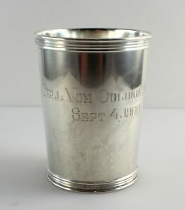 Manchester 3759 Sterling Silver Mint Julep Cup 3 3 4 W Monogram