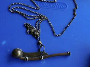 Vintage Navy Bosun Boatswain Whistle And 48 Chain