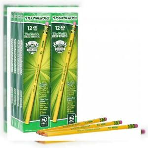 Dixon Ticonderoga Wood cased Graphite Pencils 2 Hb Soft Yellow 96 Count