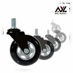 Axl Wheels For Office Chairs 3 Inch Pu Rollerblade Style Casters set Of 5