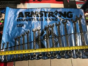 Armstrong Tools Wrench Set Sae 14 Pc 5 16 Thru 1 1 4 Missing 7 16 wrench Nice