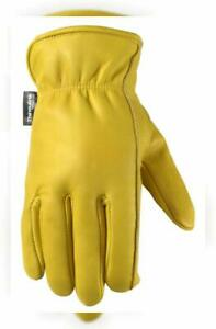 Men s Winter Leather Work Gloves 100 gram Thinsulate Cowhide Lined