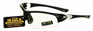 Ssp Eyewear 2 00 Bifocal reader Safety Glasses With Black Frames And Clear