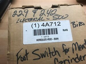 Linemaster 532 swh Hercules Heavy Duty Momentary Foot Switch New 4a712
