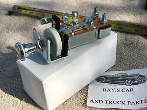 New Replacement 1947 To 1959 Chevy Gmc Truck 12 Or 6 Volt Head Light Switch
