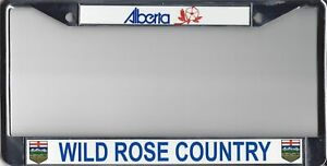 Alberta Wild Rose Country License Plate Frame Lpo1258