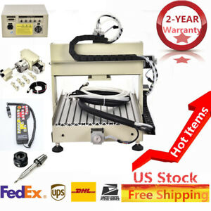 3040t 4 Axis 800w Cnc Router Engraver Drill Cutter Water Cooling Controller