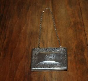 Antique Sterling Silver Miniaudiere Evening Purse 3 1 2 X 2 With Chain