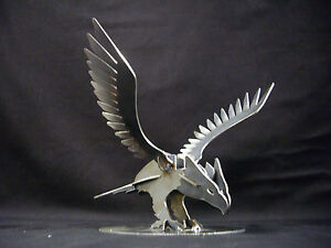 Eagle Card Holder Metal Business Card Stand Hunting Vacation Cabin Decor Bald