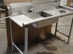 Heavy Duty Commercial Grade Stainless Steel Dish washing Table For Dishwasher
