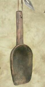 New Primitive Country Farmhouse Vintage Style Decorative Treen Barn Scoop