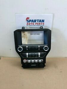 2015 2016 2017 Mustang Gt Silver Trim 8 Touch Screen Radio Display Bezel