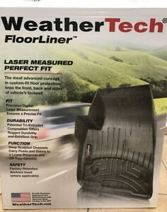 Weathertech Floorliner For Chevy Silverado Gmc Sierra Crew Cab 1st 2nd Row Black