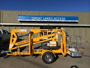 2020 Haulotte 3522a Towable Boom Lift Man 43 Height Bil jax Unit Made In Usa
