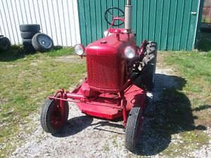 Vintage Antique 1950 Farmall Cub Tractor Belly Mower
