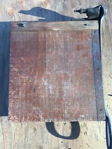 Antique Milton Bradley Paper Cutter 12 Guillotine Shear Springfield Mass