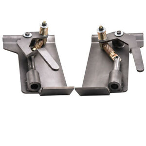 Pair Universal Weld on Skid Steer Quick Attach Conversion Adapter Quick Tach