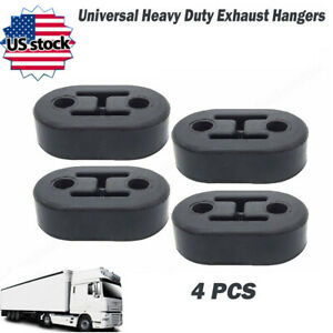 4pcar Polyurethane Rubber Exhaust Tail Pipe Mount Bracket Hanger Insulator Black