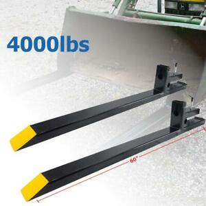60 4000lbs Clamp On Pallet Forks Bucket Skid Steer For Loader Tractor Chain