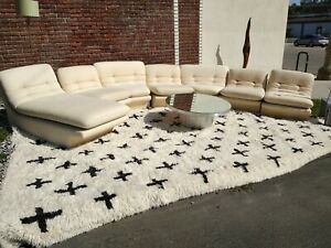 Mid Century Modern Sofa Couch Sectional Modular Space Age Kagan 7 Piece Preview