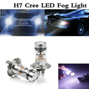 2x H7 Led Headlight High Low Beam Bulb Kit 6000k White 55w 6000lm Fog Light