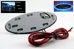 Blue Led Lo Glow Light Unit For Your 3 5 Wide Ford Oval Emblem Badge