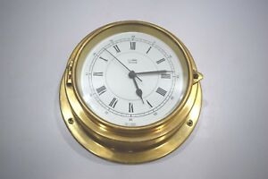 L J Harri Clock Marine Ship Brass Quartz Clock Made In Germany