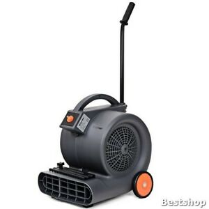 Freeship Air Mover Blower Fan 3 Speeds Dryer With Wheels