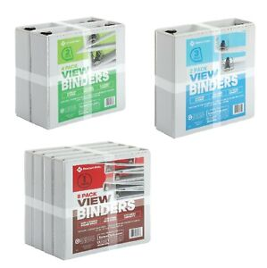 1 2 3 White View Binders Round O Ring D Ring 2 4 Or 8 Pack