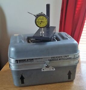 Federal Dial Indicator Machinist Guage Tool C81 w Thermodyne Shok Stop Case