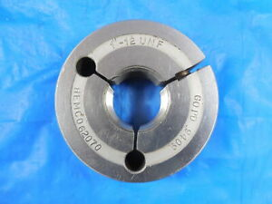 1 12 Unf Thread Ring Gage 1 00 Go Only P d 9409 1 12 Quality Inspection