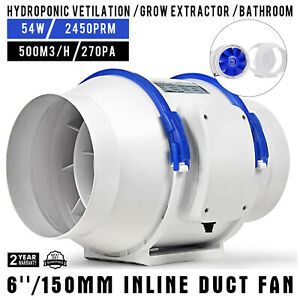 6 Inch Inline Duct Fan Exhaust Fan Bathroom Variable Speed Controlle Air Blower