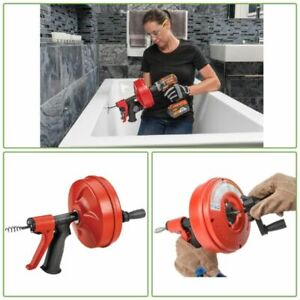 Ridgid Powerspin Plus Pluming Snake Auger Drain Cleaner Tool Ergonomic Hand Grip