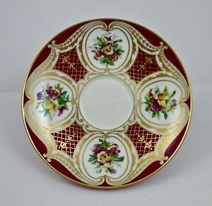 Antique Sevres Saucer Hand Painted Pansies