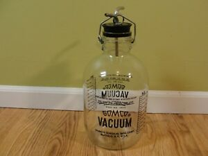 Vintage Gomco 5020 Vacuum Bottle W Rubber Top Tubing Glass 2600 Ml