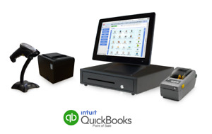 Retail Point Of Sale System Quickbooks Pos V18 Basic Label Printer Bundle
