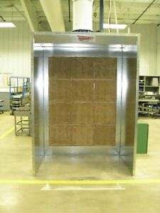 7 Wide X 7 Paint Spray Booth open Face