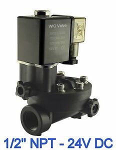 Pa66 Plastic Electric Air Water Solenoid Valve Manual Override 1 2 Inch 24v Dc
