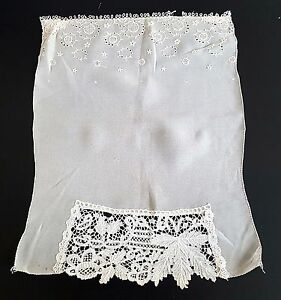 Antique Vintage 1880 Wedding Handkerchief Hanky Brussels Applique Lace
