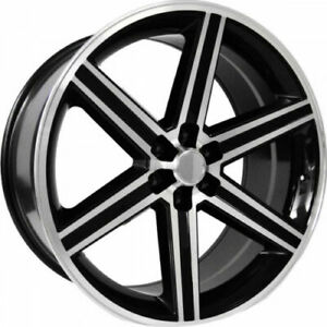 New 24 Inch Iroc Style Glossy Black Machine Wheels Rims 6 Lug Set Of 4