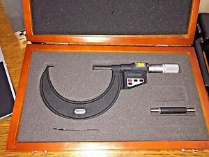 Starrett Outside Digital Micrometer No 733 3 4 3 4in Excellent