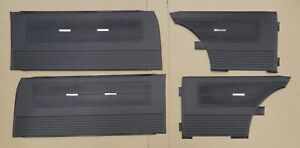 1962 1963 Chevy Ii Nova Ss Interior Front Rear Door Panel Set Pui Black In Stk