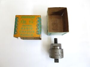 Greenlee No 730 1 1 8 round Radio Chassis Punch In Box Very Good Condition