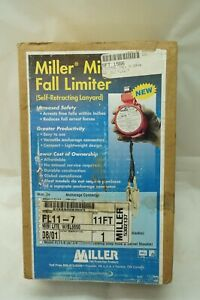 Miller Fall Limiter Minilite Self Retracting Lanyard Fl11 7 11 Ft Vintage New